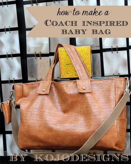 Coach Inspired Baby Bag – Free Sewing Tutorial