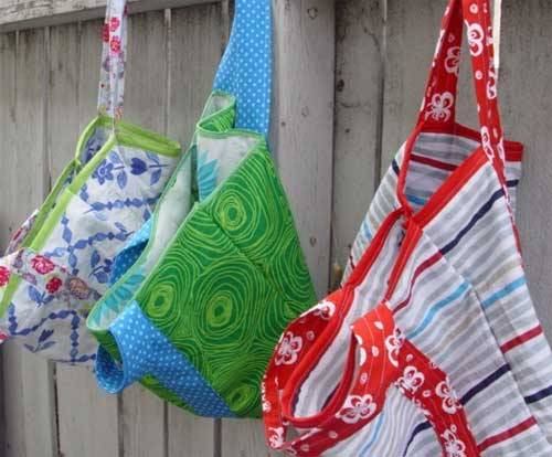 Easy Five Step Market Tote - Free Sewing Tutorial