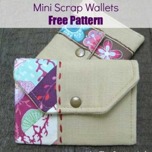 Mini Scrap Wallets – Free Sewing Pattern
