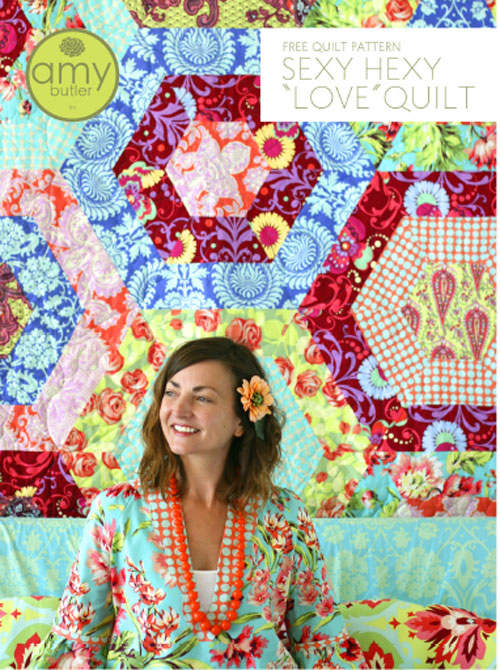 Sexy Hexy Love Quilt - Free Quilt Pattern