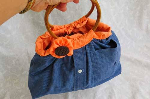 Shirt to Handbag – Free Upcycled Sewing Tutorial
