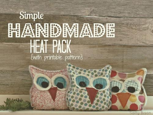 Handmade Owl Heat Pack – Free Sewing Tutorial