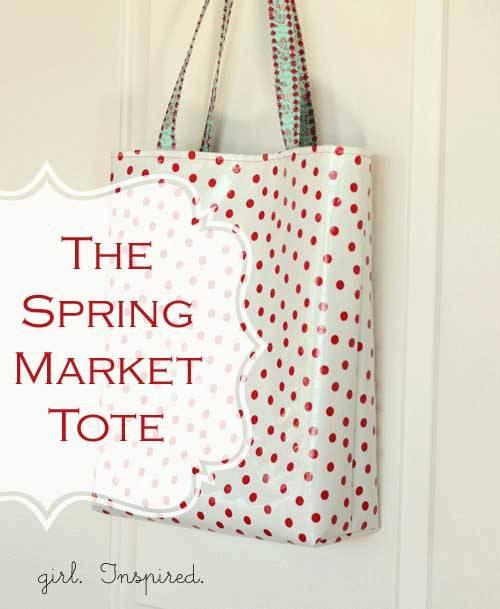 Spring Market Tote - Free Sewing Pattern