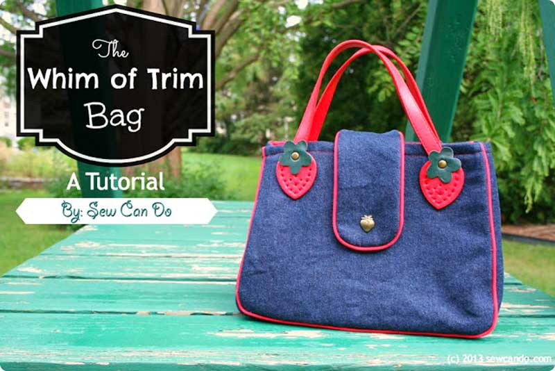 Free Bag Pattern and Tutorial - Whim of Trim Handbag