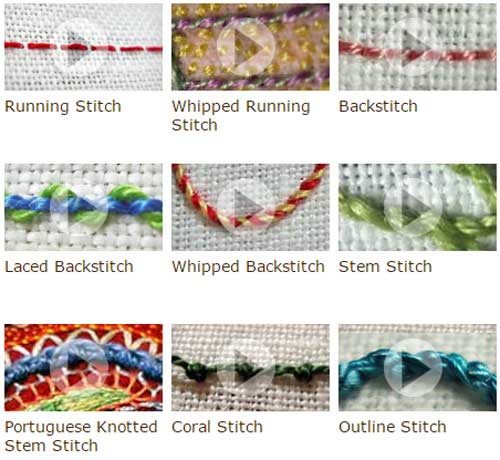 Embellish with Hand Embroidery Stitches by Needle'n'Thread