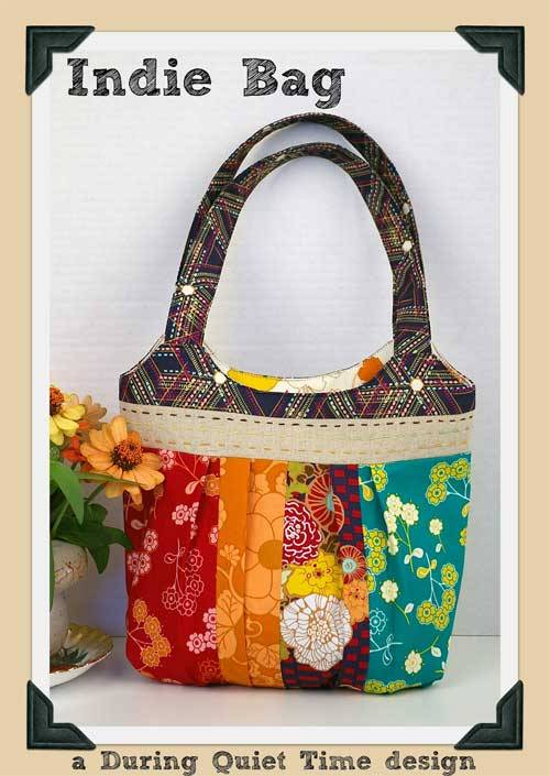 This bag is fun and easy to make and looks fresh made up in bright coordinating fabrics.