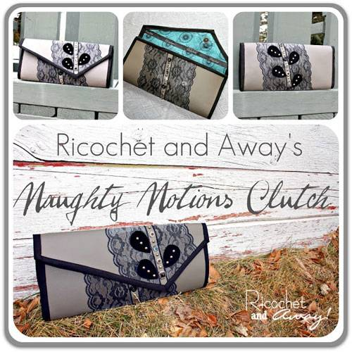 Free Bag Pattern and Tutorial - Naughty Notions Clutch Bag Pattern