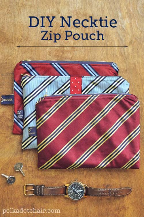 Necktie Zip Pouch