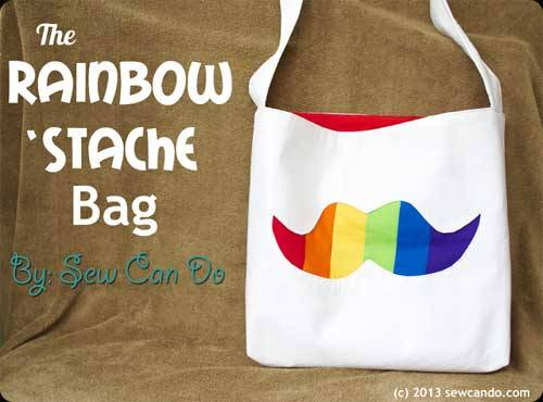 The Rainbow Stache Bag