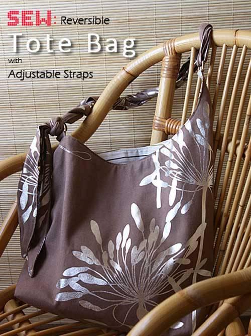Free Bag Pattern and Tutorial - Reversible Tote Bag