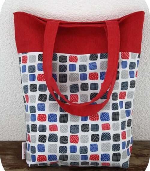 Reversible Two Colored Tote Bag – Free Sewing Tutorial