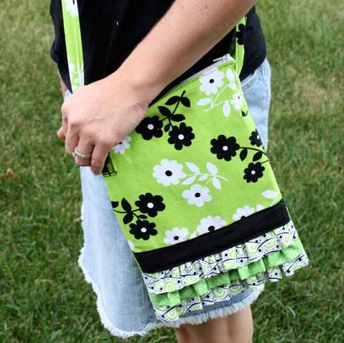 Free Bag Pattern and Tutorial - Ruffle Bag