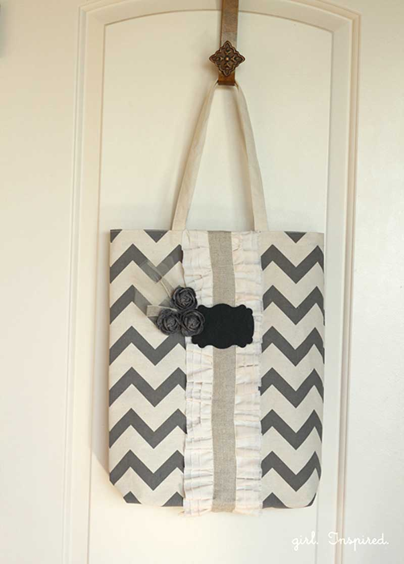 Ruffled Tote Bag – Free Sewing Tutorial