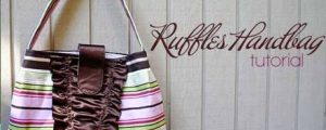 Ruffles Handbag – Free Sewing Tutorial