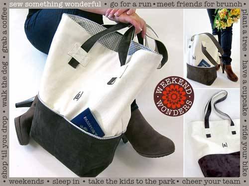 Free Bag Pattern and Tutorial - Stylish Monogrammed Weekender Tote Bag Pattern