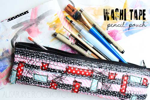 Washi Tape Pencil Pouch – Free Sewing Tutorial
