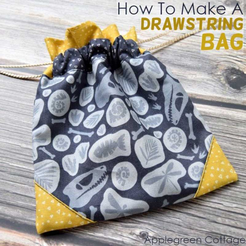 Drawstring Bag – Free Sewing Tutorial