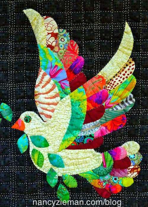 Free Quilt Block Pattern - Love the Dove Quilt Block