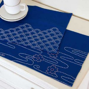 Pond & Scales Sashiko Placemat – Free Sewing Tutorial