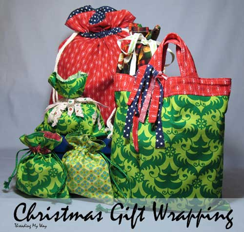 Free Sewing Pattern: Reusable Fabric Gift Bags