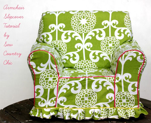 Armchair Slipcover – Free Sewing Pattern