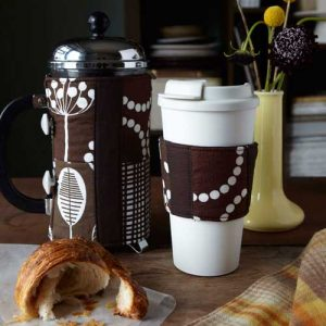 French Press  and Coffee Cup Cozies – Free Sewing Tutorial