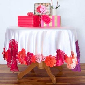 Colorful Crochet Tablecloth – Free Sewing Tutorial