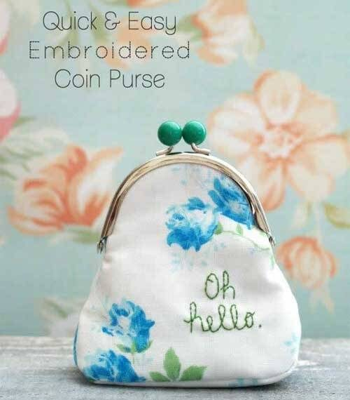 Embroidered Coin Purse – Free Sewing Tutorial