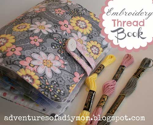 Embroidery Thread Book - Free Sewing Tutorial by Adventures of a DIY Mom