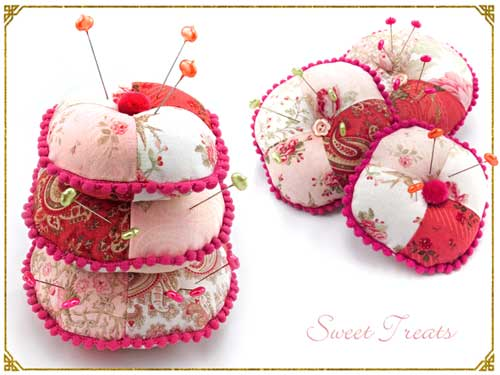 Free Sewing Pattern and Tutorial - Three Tier Stacked Pin Cushion Trio