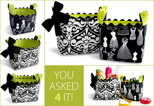 Structured Fabric Baskets - Free Sewing Pattern