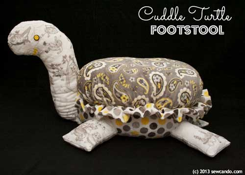 Free Sewing Pattern and Tutorial - Cuddle Turtle Footstool