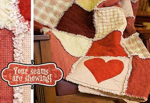 Free Quilt Pattern - Valentines Wooly Rag Rug