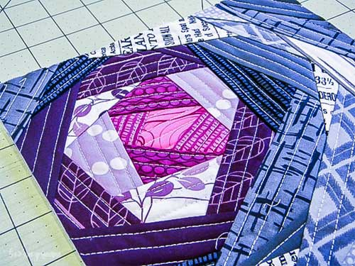 Free Quilting Tutorial - Bloomin' Quilt-As-You-Go Block