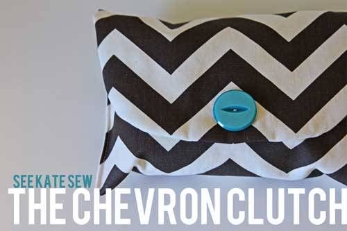 The Chevron Clutch - Free Sewing Tutorial