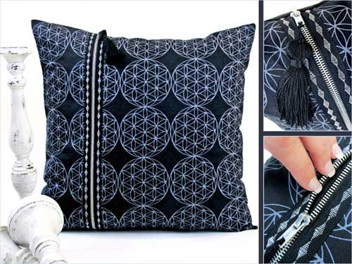 Free Sewing Pattern and Tutorial - Double Zipper Pillow by Sew 4 Home