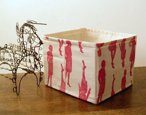 No-interfacing Fabric Storage Basket - Free Sewing Pattern