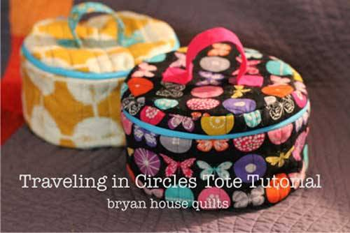 Traveling in Circles Tote - Free Sewing Pattern