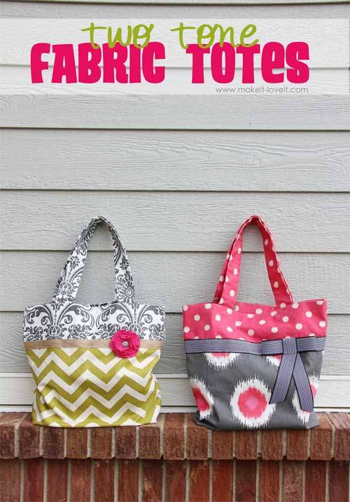 Two-Tone Fabric Tote