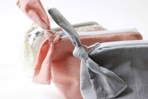 Zippered Bow Pouch