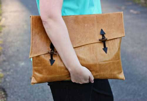 Asymmetrical Clutch Bag - Free Sewing Tutorial