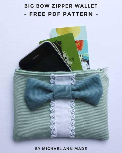 Big Bow Zipper Wallet