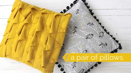 Free Sewing Pattern and Tutorial - Throw Pillows with Ruffle and Pom Pom Trim