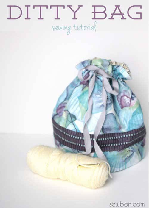 Ditty Bag - Free Sewing Tutorial