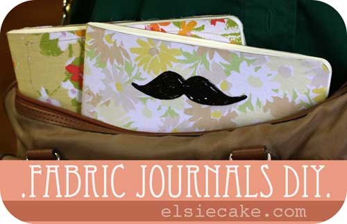 Free Sewing Tutorial - Fabric Journals