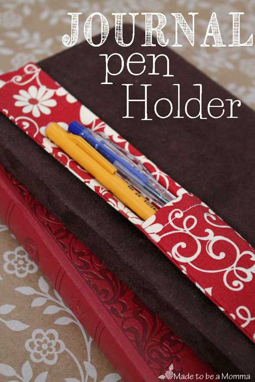 Free Sewing Tutorial - Journal Pen Holder
