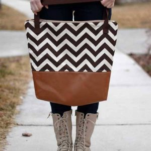 Leather Bottom Tote – Free Sewing Tutorial