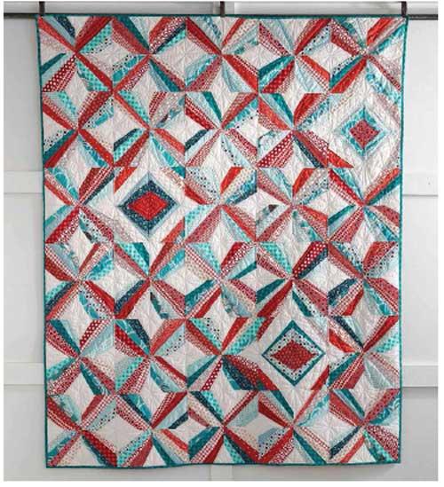 Mod Pinwheel Quilt - Free Quilt Pattern