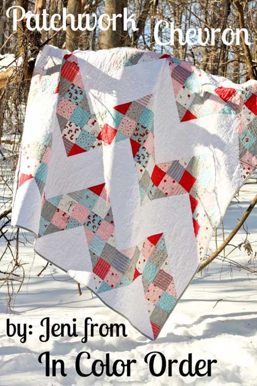 Free Quilt Pattern - Patchwork Chevron Quilt