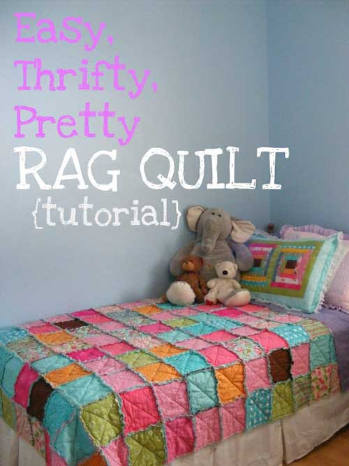 Rag quilts are easy to make and are a perfect beginner quilting project.